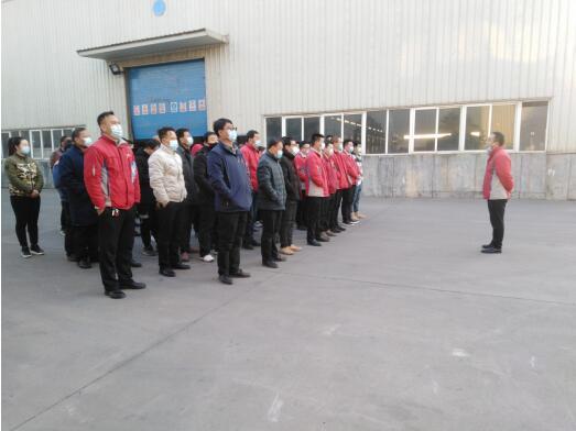 2月17日早上,生产管理部利用班前会组织开展了节后复工安全生产培训及生产计划安排会,部门全体员工参加了本次培训